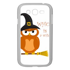 Halloween Orange Witch Owl Samsung Galaxy Grand Duos I9082 Case (white)