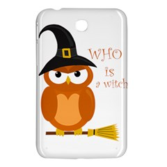 Halloween Orange Witch Owl Samsung Galaxy Tab 3 (7 ) P3200 Hardshell Case