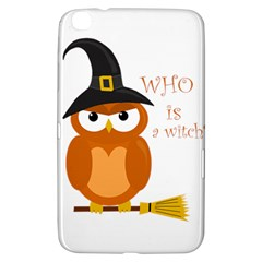 Halloween Orange Witch Owl Samsung Galaxy Tab 3 (8 ) T3100 Hardshell Case