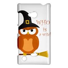 Halloween Orange Witch Owl Nokia Lumia 720