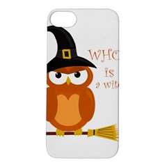 Halloween Orange Witch Owl Apple Iphone 5s/ Se Hardshell Case