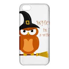 Halloween Orange Witch Owl Apple Iphone 5c Hardshell Case