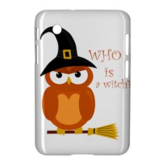 Halloween Orange Witch Owl Samsung Galaxy Tab 2 (7 ) P3100 Hardshell Case