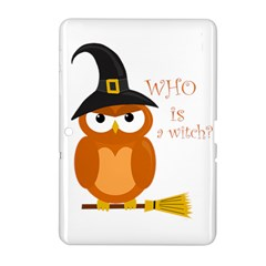Halloween Orange Witch Owl Samsung Galaxy Tab 2 (10 1 ) P5100 Hardshell Case