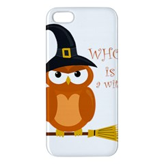 Halloween Orange Witch Owl Iphone 5s/ Se Premium Hardshell Case