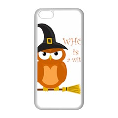 Halloween Orange Witch Owl Apple Iphone 5c Seamless Case (white)