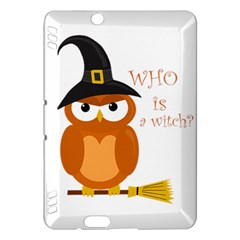 Halloween Orange Witch Owl Kindle Fire Hdx Hardshell Case