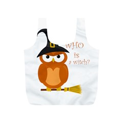 Halloween Orange Witch Owl Full Print Recycle Bags (s)