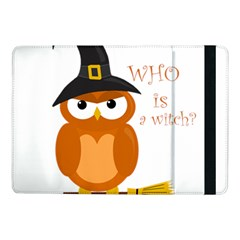 Halloween Orange Witch Owl Samsung Galaxy Tab Pro 10 1  Flip Case