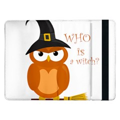 Halloween Orange Witch Owl Samsung Galaxy Tab Pro 12 2  Flip Case