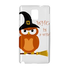 Halloween Orange Witch Owl Samsung Galaxy Note 4 Hardshell Case