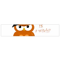 Halloween Orange Witch Owl Flano Scarf (small)