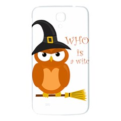 Halloween Orange Witch Owl Samsung Galaxy Mega I9200 Hardshell Back Case