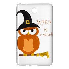 Halloween Orange Witch Owl Samsung Galaxy Tab 4 (7 ) Hardshell Case