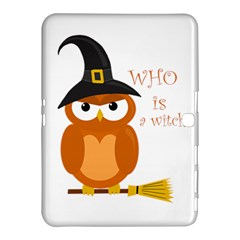 Halloween Orange Witch Owl Samsung Galaxy Tab 4 (10 1 ) Hardshell Case
