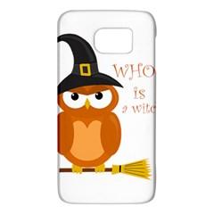 Halloween Orange Witch Owl Galaxy S6
