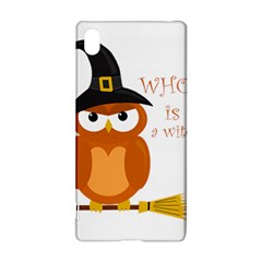 Halloween Orange Witch Owl Sony Xperia Z3+