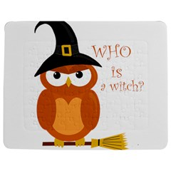 Halloween Orange Witch Owl Jigsaw Puzzle Photo Stand (rectangular)