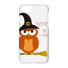 Halloween Orange Witch Owl Apple Iphone 7 Hardshell Case