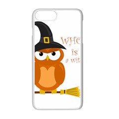 Halloween Orange Witch Owl Apple Iphone 7 Plus White Seamless Case