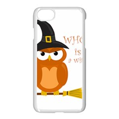 Halloween Orange Witch Owl Apple Iphone 7 Seamless Case (white)
