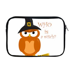 Halloween Orange Witch Owl Apple Macbook Pro 17  Zipper Case