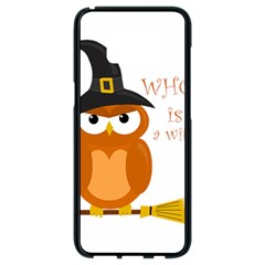 Halloween Orange Witch Owl Samsung Galaxy S8 Black Seamless Case