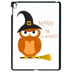 Halloween Orange Witch Owl Apple Ipad Pro 9 7   Black Seamless Case