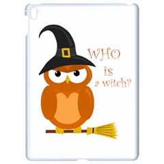 Halloween Orange Witch Owl Apple Ipad Pro 9 7   White Seamless Case