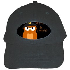 Halloween Orange Witch Owl Black Cap