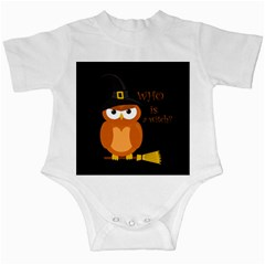 Halloween Orange Witch Owl Infant Creepers