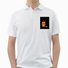 Halloween Orange Witch Owl Golf Shirts