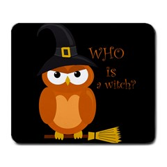 Halloween Orange Witch Owl Large Mousepads