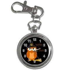 Halloween Orange Witch Owl Key Chain Watches