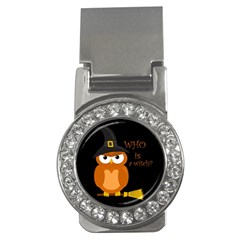 Halloween Orange Witch Owl Money Clips (cz)