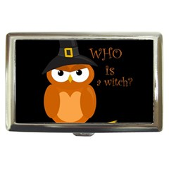 Halloween Orange Witch Owl Cigarette Money Cases