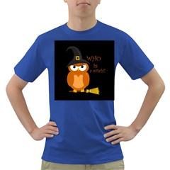 Halloween Orange Witch Owl Dark T Shirt
