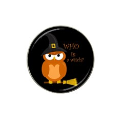 Halloween Orange Witch Owl Hat Clip Ball Marker (10 Pack)