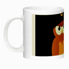 Halloween Orange Witch Owl Night Luminous Mugs