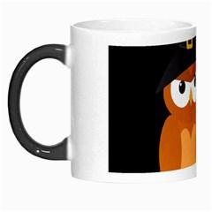 Halloween Orange Witch Owl Morph Mugs