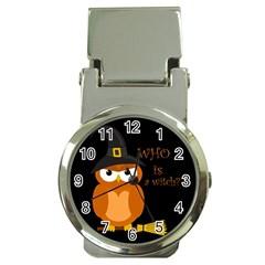 Halloween Orange Witch Owl Money Clip Watches