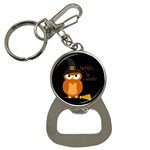 Halloween orange witch owl Button Necklaces Front