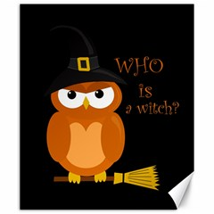 Halloween Orange Witch Owl Canvas 20  X 24