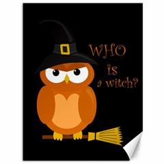 Halloween Orange Witch Owl Canvas 36  X 48