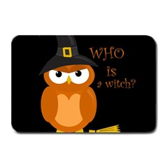 Halloween Orange Witch Owl Plate Mats