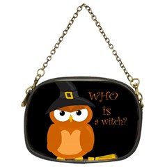 Halloween Orange Witch Owl Chain Purses (two Sides)