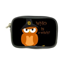 Halloween Orange Witch Owl Coin Purse