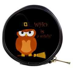 Halloween Orange Witch Owl Mini Makeup Bags