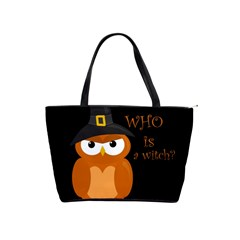 Halloween Orange Witch Owl Shoulder Handbags
