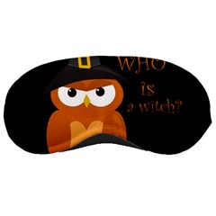 Halloween Orange Witch Owl Sleeping Masks